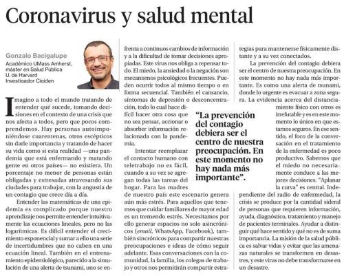 Corona Virus y Salud mental